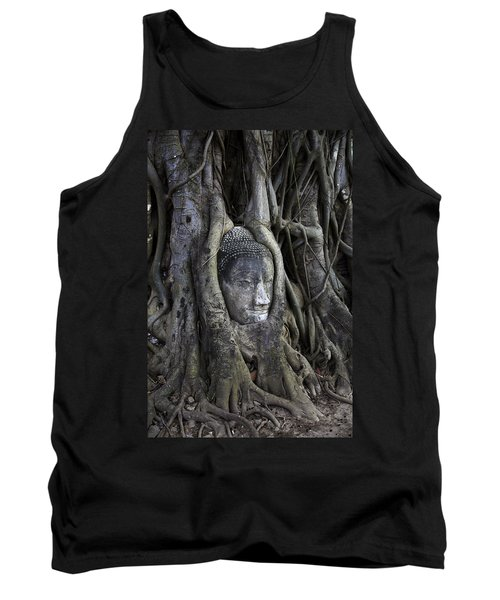 Buddha Head In Tree Tank Top