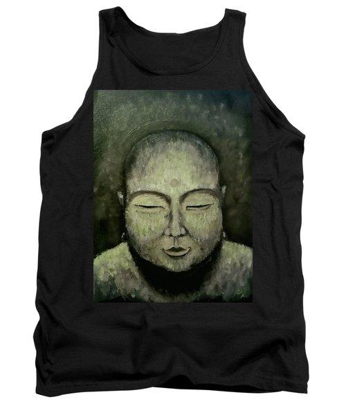 Buddha In Green Tank Top
