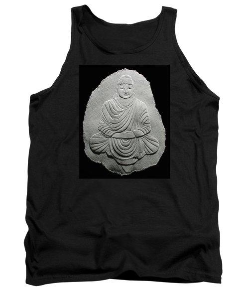 Budha - Fingernail Relief Drawing Tank Top by Suhas Tavkar