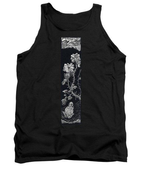 Tank Top featuring the drawing Buffalo Burr And Toad by Dawn Senior-Trask