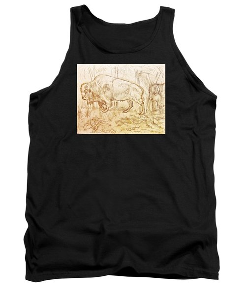 Buffalo Trail  Tank Top by Larry Campbell