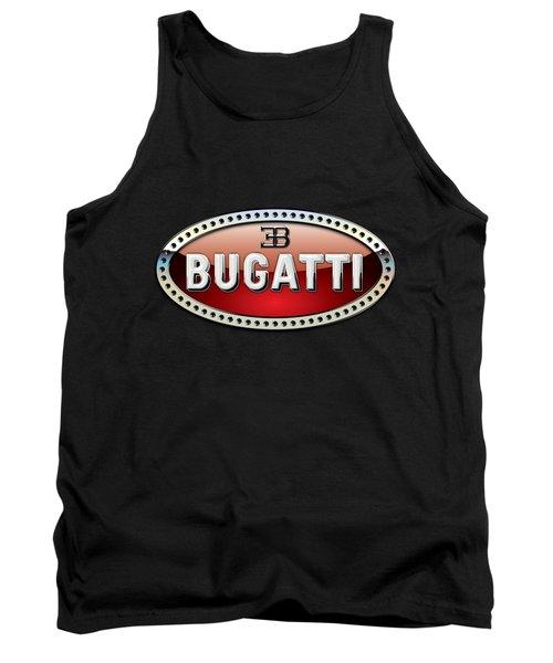 Bugatti - 3 D Badge On Black Tank Top by Serge Averbukh
