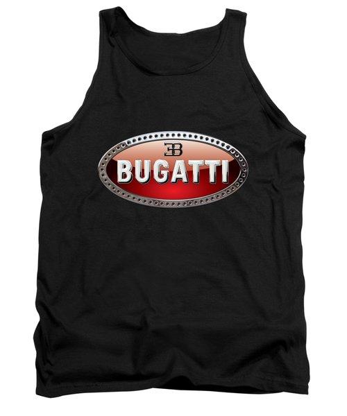 Bugatti - 3d Badge On Black Tank Top by Serge Averbukh