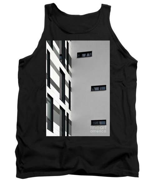 Tank Top featuring the photograph Building Block - Black And White by Wendy Wilton