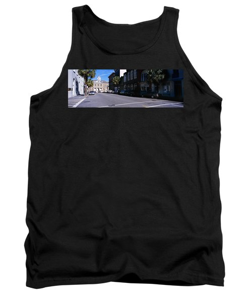 Buildings On Both Sides Of A Road Tank Top