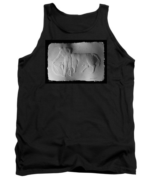 Tank Top featuring the relief Bull Fighter by Suhas Tavkar