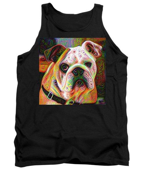 Bulldog Surreal Deep Dream Image Tank Top