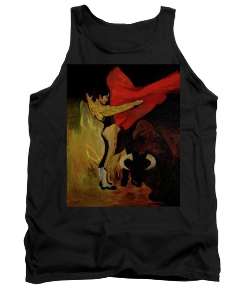 Tank Top featuring the painting Bullfighter By Mary Krupa by Bernadette Krupa