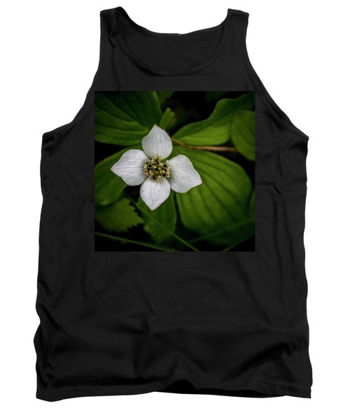 Tank Top featuring the photograph Bunchberry Dogwood On Gloomy Day by Darcy Michaelchuk