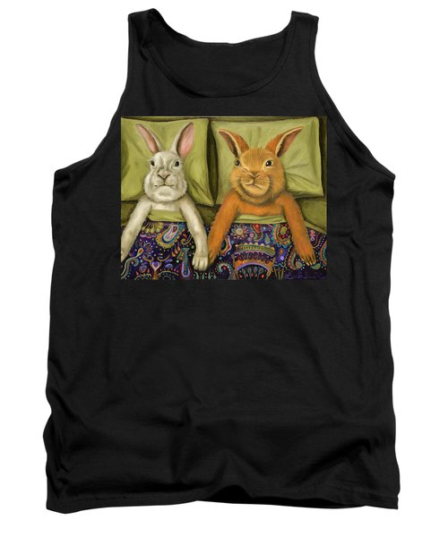 Tank Top featuring the painting Bunny Love by Leah Saulnier The Painting Maniac