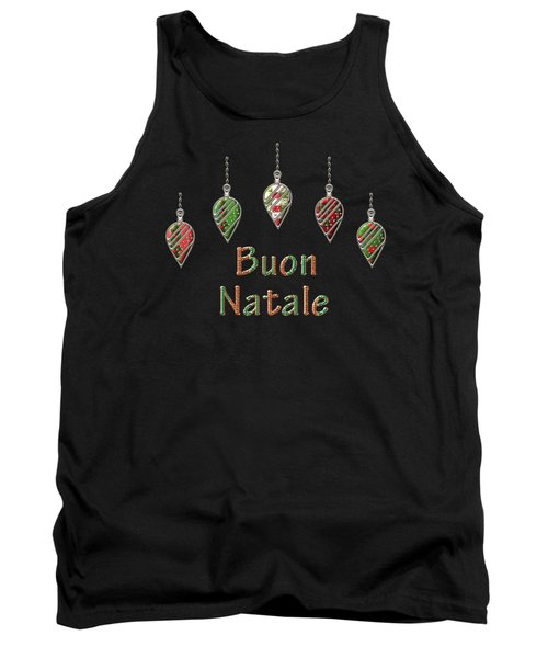 Buon Natale Italian Merry Christmas Tank Top by Movie Poster Prints