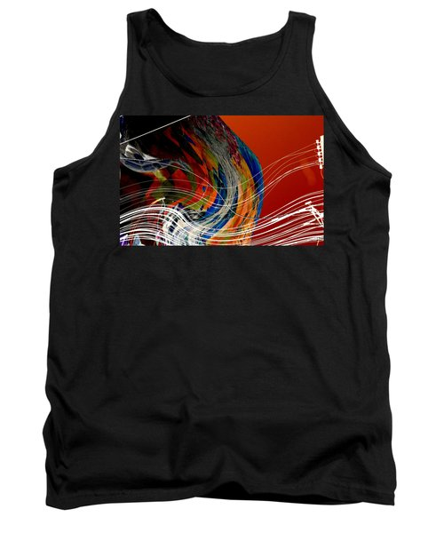 Burning City Sunset Tank Top by Thibault Toussaint