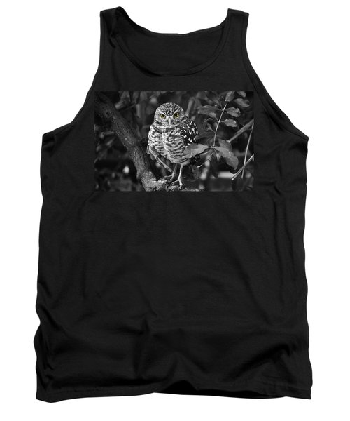 Burrowing Owl  Selective Color Eyes Tank Top by Judy Wanamaker