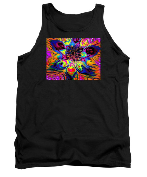 Tank Top featuring the digital art Butterfly Abstract by Maciek Froncisz