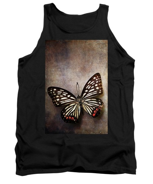 Butterfly Over Textured Background Tank Top