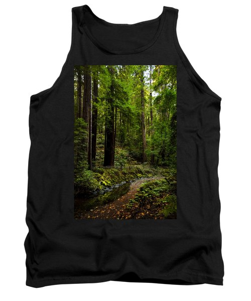 By The Stream In Muir Woods Tank Top