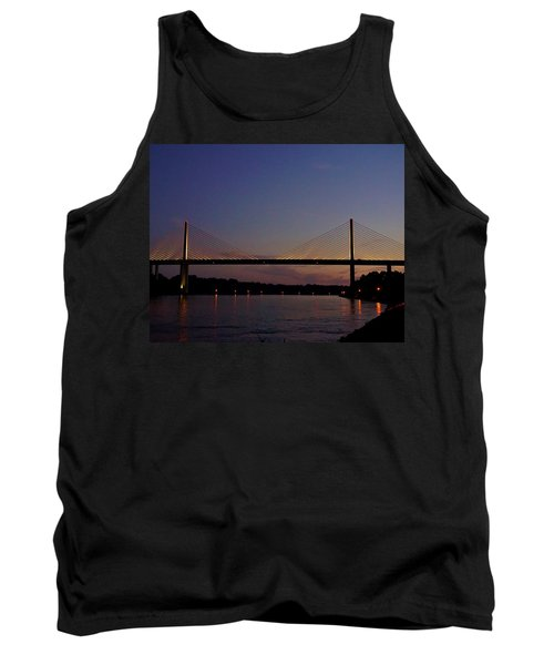 C And D Canal Bridge Tank Top by Ed Sweeney