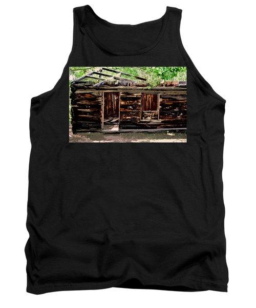 Cabin In The Woods Tank Top by Ellen Heaverlo