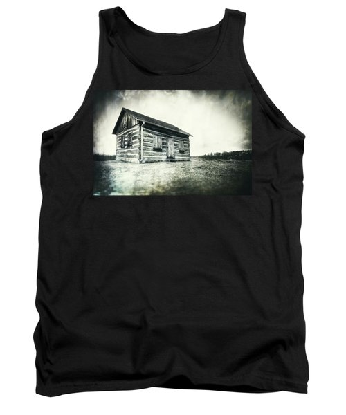 Tank Top featuring the photograph Cabin Near Paradise Springs - Kettle Moraine State Forest by Jennifer Rondinelli Reilly - Fine Art Photography