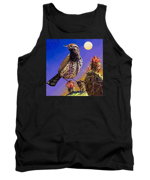 Tank Top featuring the painting Cactus Wren by Bob Coonts