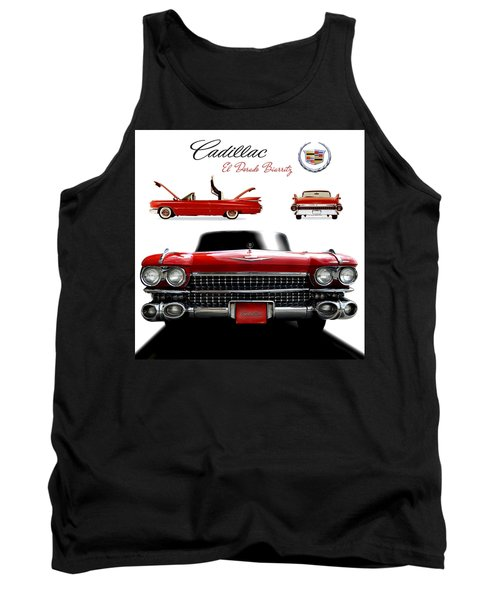 Tank Top featuring the photograph Cadillac 1959 by Gina Dsgn