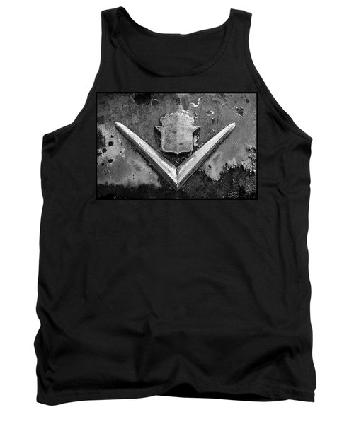 Cadillac Emblem On Rusted Hood Tank Top