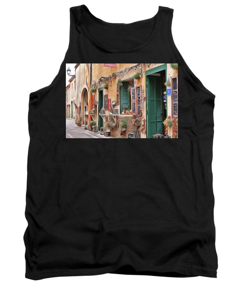 Tank Top featuring the painting Cafe by Harry Warrick