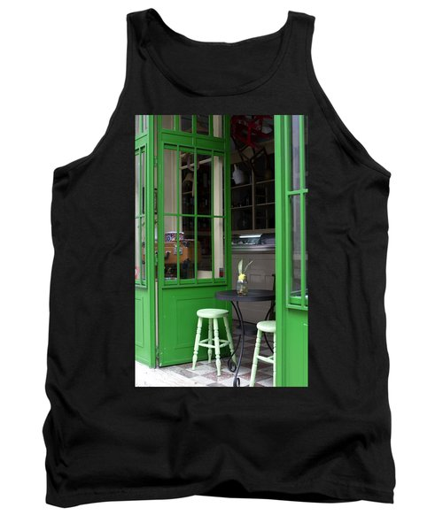 Tank Top featuring the photograph Cafe In Green by Lorraine Devon Wilke