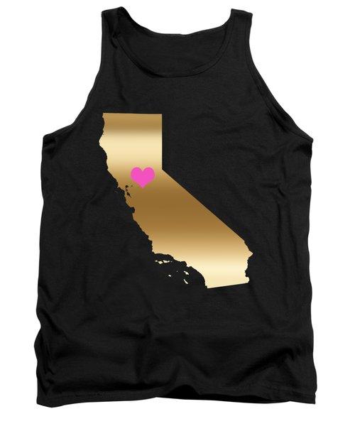 California Love On Black Background Tank Top