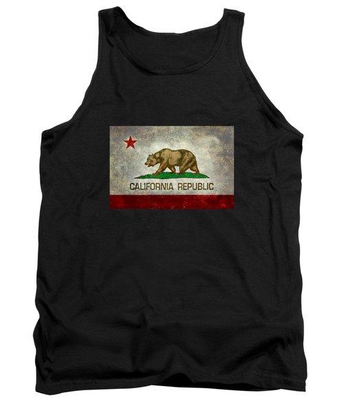 California Republic State Flag Retro Style Tank Top