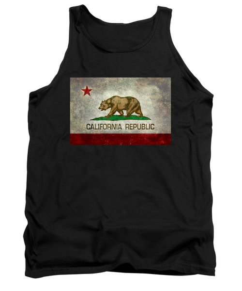 California Republic State Flag Retro Style Tank Top