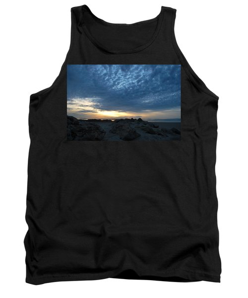 California Rocky Beach Sunset  Tank Top