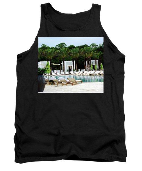 Caliza Pool In Alys Beach Tank Top