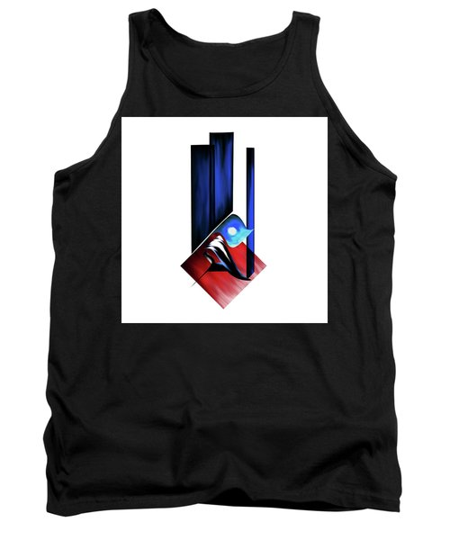 Tank Top featuring the painting Calligraphy 102 2 by Mawra Tahreem