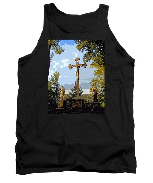 Tank Top featuring the photograph Calvary Group - Parkstein by Juergen Weiss