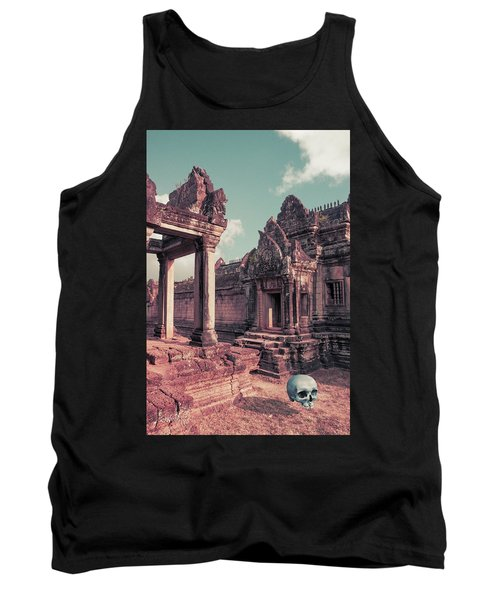 Tank Top featuring the photograph Cambodian Blue by Joseph Westrupp
