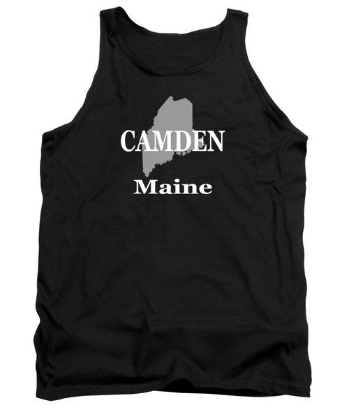Tank Top featuring the photograph Camden Maine State City And Town Pride  by Keith Webber Jr