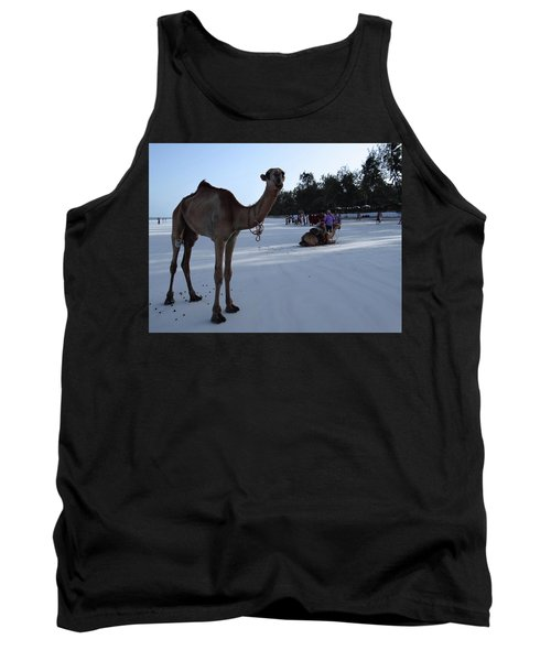 Camel On Beach Kenya Wedding 6 Tank Top