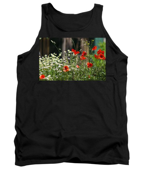 Camille And Poppies Tank Top by Rainer Kersten