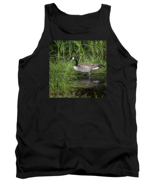 Tank Top featuring the photograph Canada Goose by Tyson and Kathy Smith