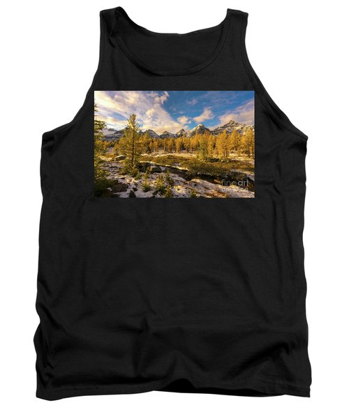 Canadian Rockies Golden Larches In Larch Valley Tank Top