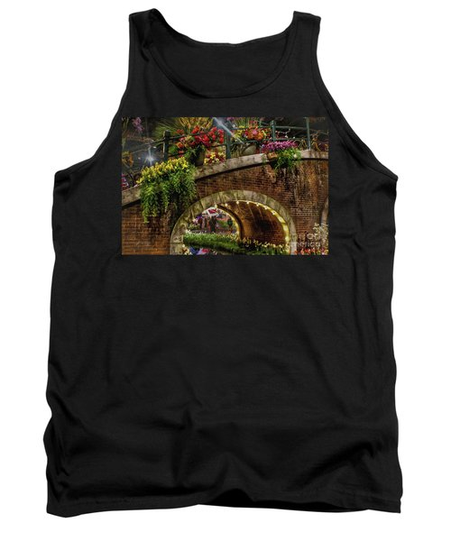 Canal And Bridge  Tank Top by Sandy Moulder