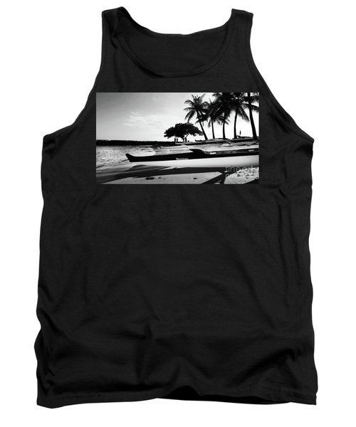 Tank Top featuring the photograph Canoes by Kristine Merc