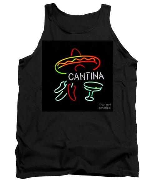 Cantina Neon Sign Tank Top
