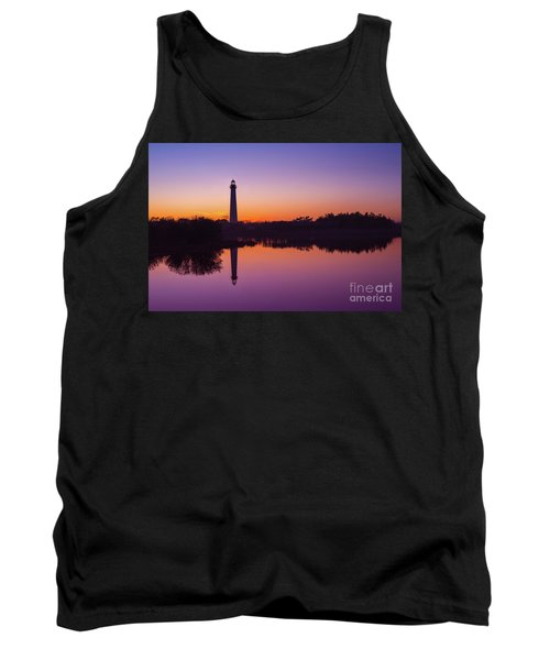 Cape May Lighthouse At Blue Hour  Tank Top