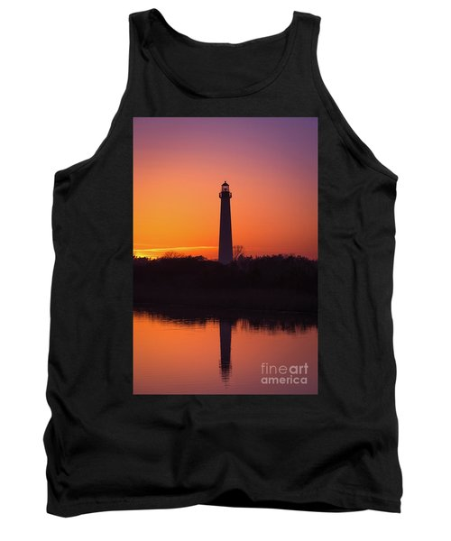 Cape May Lighthouse Reflections Tank Top