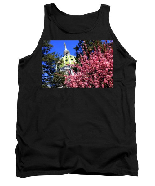 Capitol In Bloom Tank Top by Shelley Neff