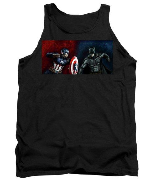 Captain America Vs Batman Tank Top