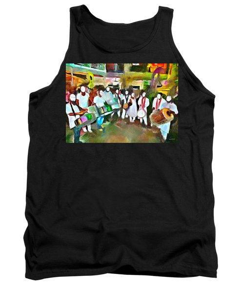 Caribbean Scenes - Pan And Tassa Tank Top by Wayne Pascall