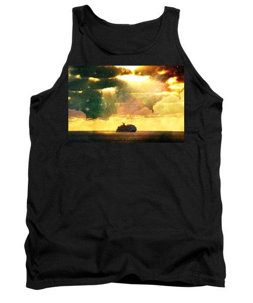Caribbean Sunset Cloud Art Tank Top